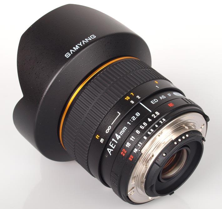 Samyang 14mm AE con attacco Nikon