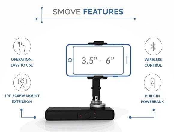 Smove stabilizzatore per smartphone caratteristiche