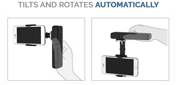 Smove stabilizzatore smartphone rotazione