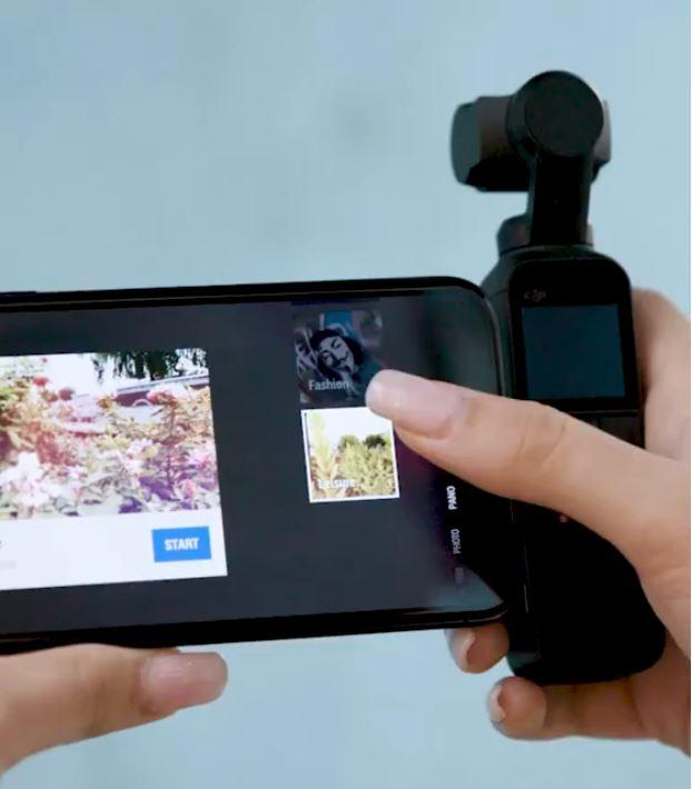 DJI Osmo Pocket con Cellulare